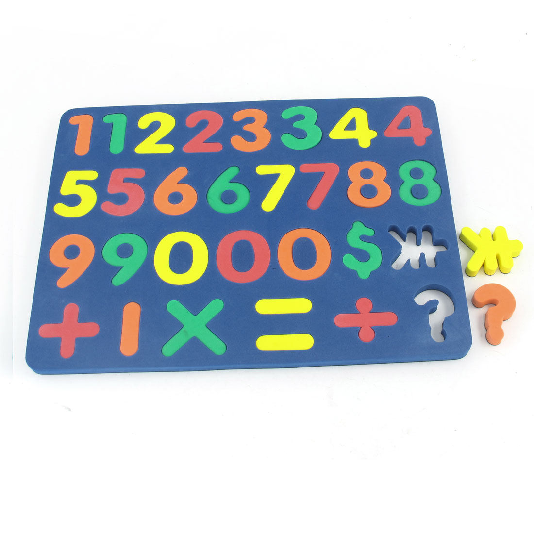 Child Foam 0-9 Numbers Education Magnet Jigsaw Puzzle Toy Blue