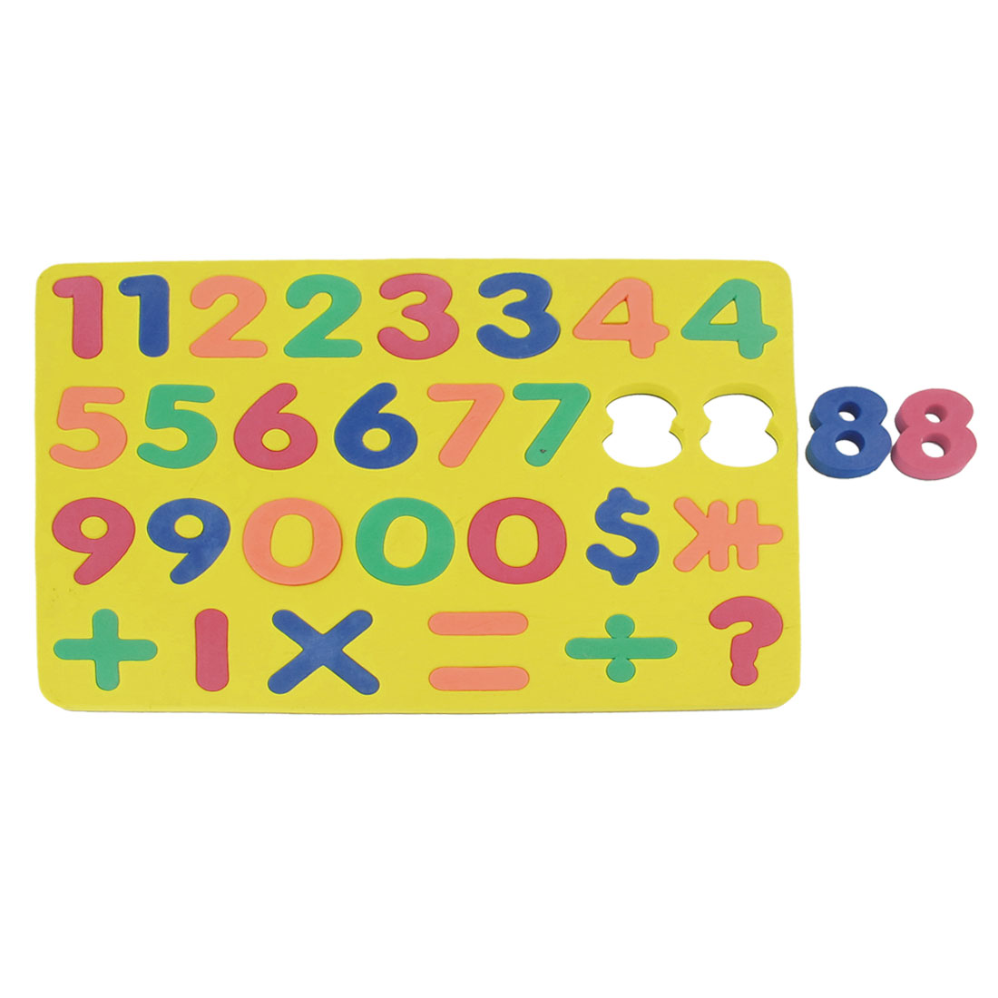 Yellow Foam Numbers Number Magnetic Jigsaw Puzzle Toy for Children