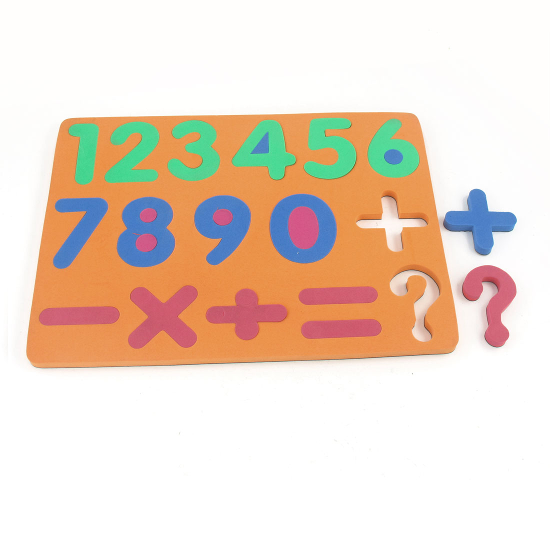 Child Foam 0-9 Numbers Education Magnet Jigsaw Puzzle Toy Orange