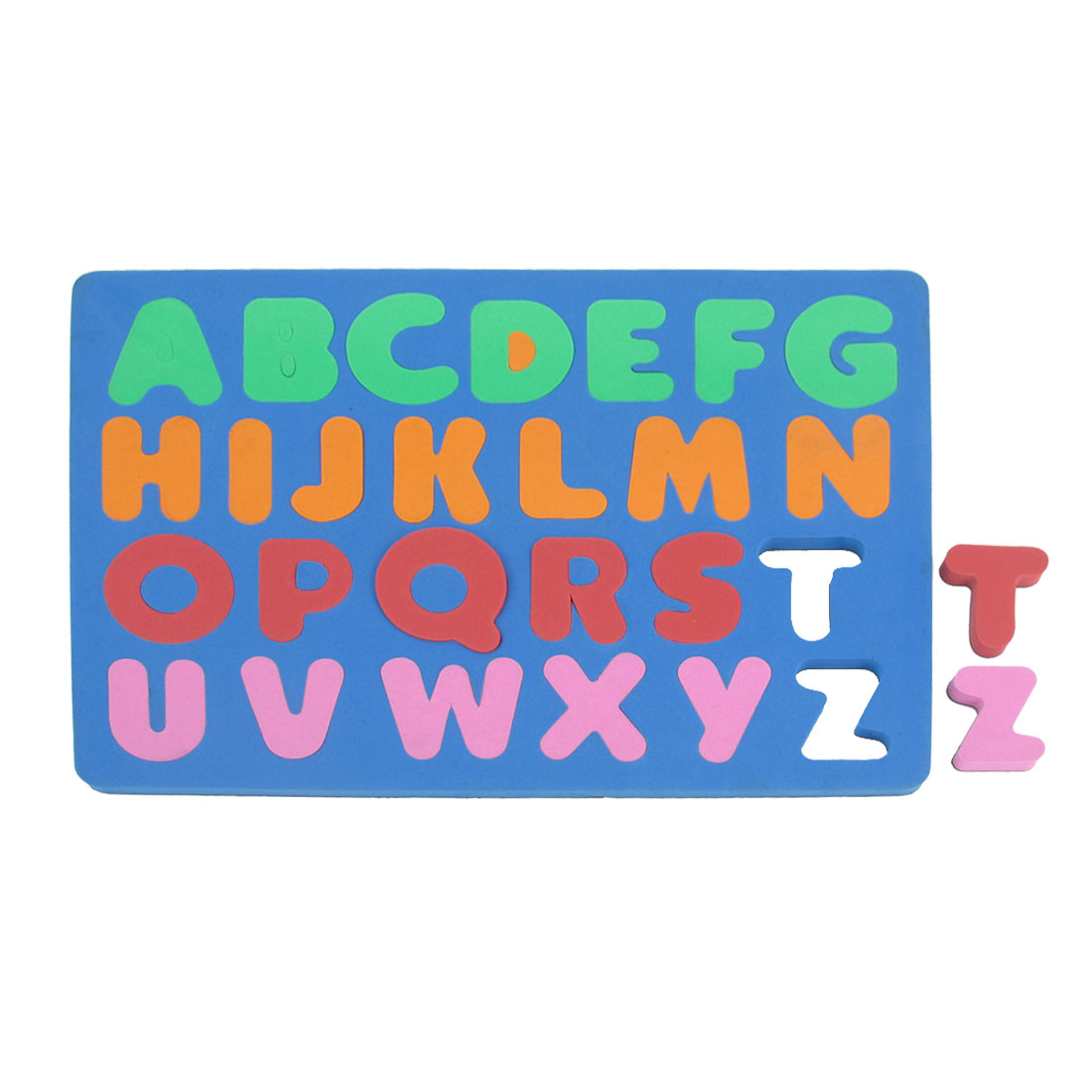 Child Foam 26 English Letters Education Magnetic Jigsaw Puzzle Steel Blue