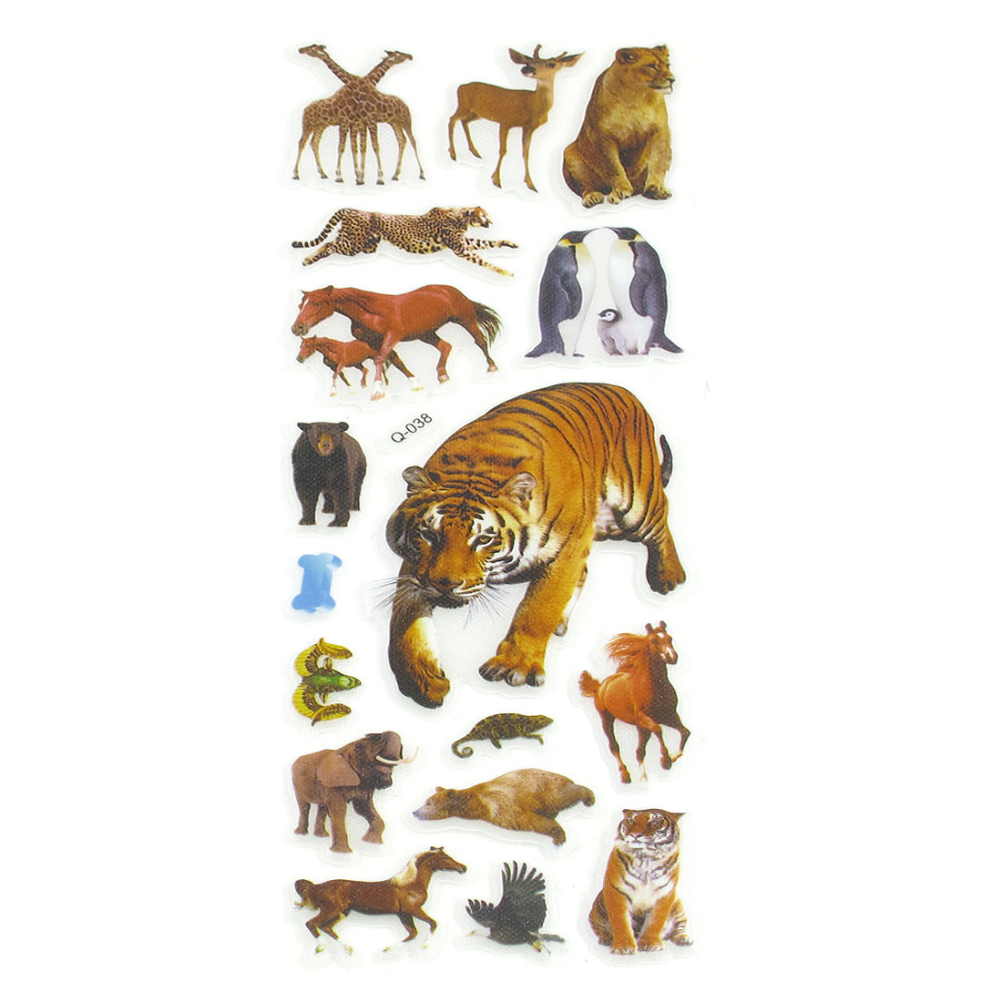 Colorful Giraffe Horse Tiger 3D Stickers for Teachers Kids