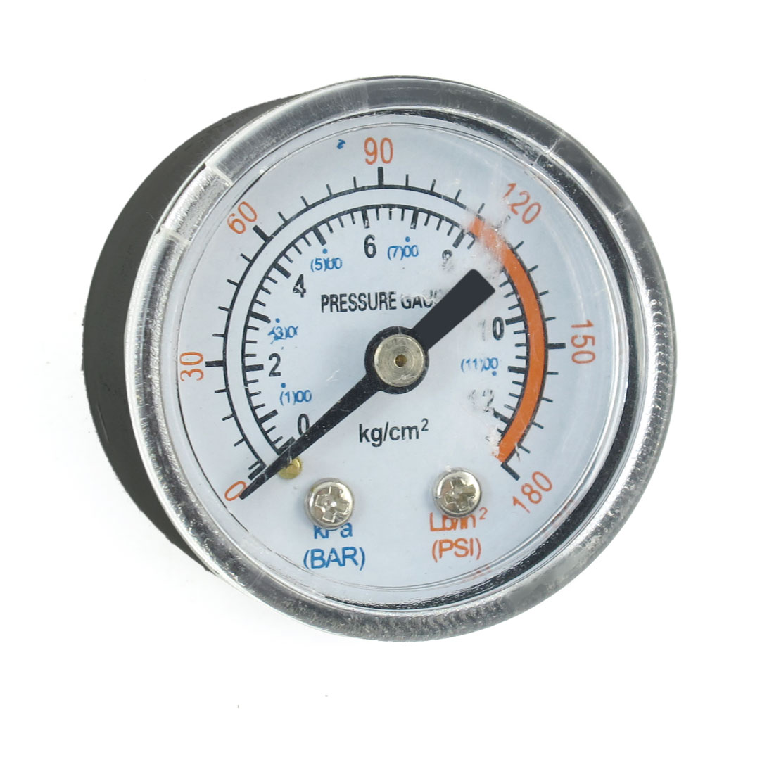 Air Compressor Fittings 12.5mm Dia Thread 12.5 Bar Pressure Gauge