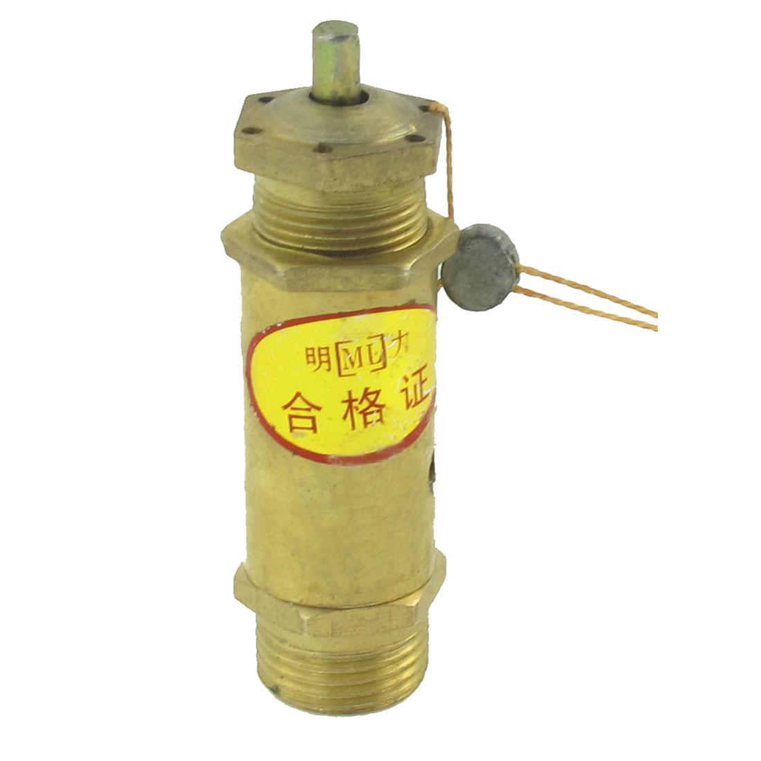 1/4 PT Dia Thread Pressure Safety Relief Valve Brass Tone