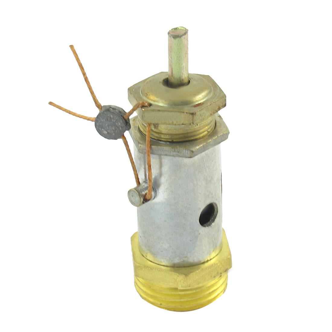 1/2 PT Dia Thread Pressure Safety Relief Valve Brass Tone