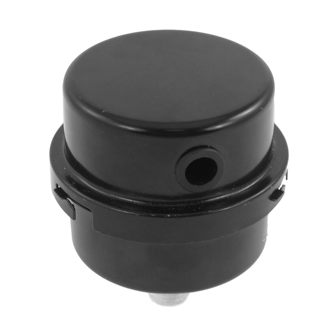 "Black Metal 0.5"" 12.6mm Male Thread Air Compressor Filter Silencer"