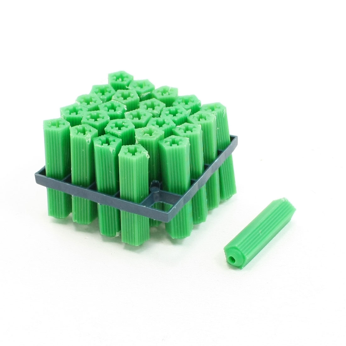 Green 8mm Plastic Wall Connector for Masonry Fixing Screw 25 Pcs