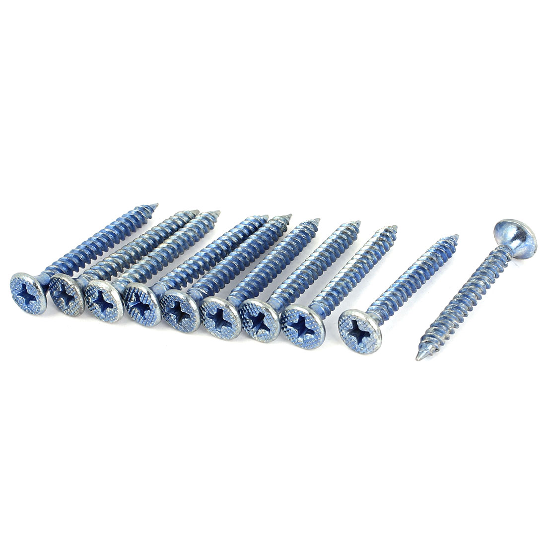 Industry 33mmx4mm Threaded Self Tapping Screws Drilling Bolts 10 Pcs