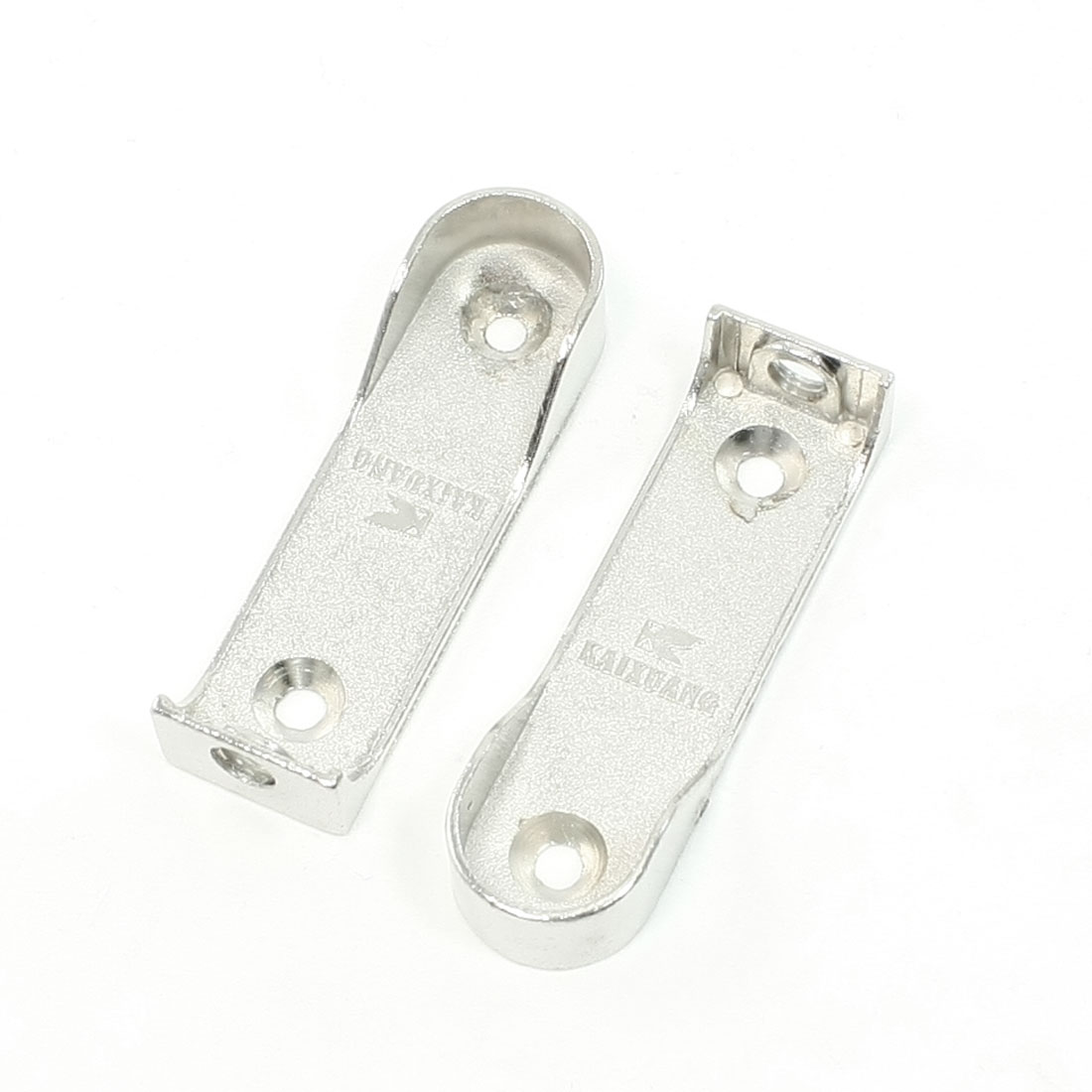 2 Pcs Silver Tone Metal Garment Pipe Lever Clothes Bracket