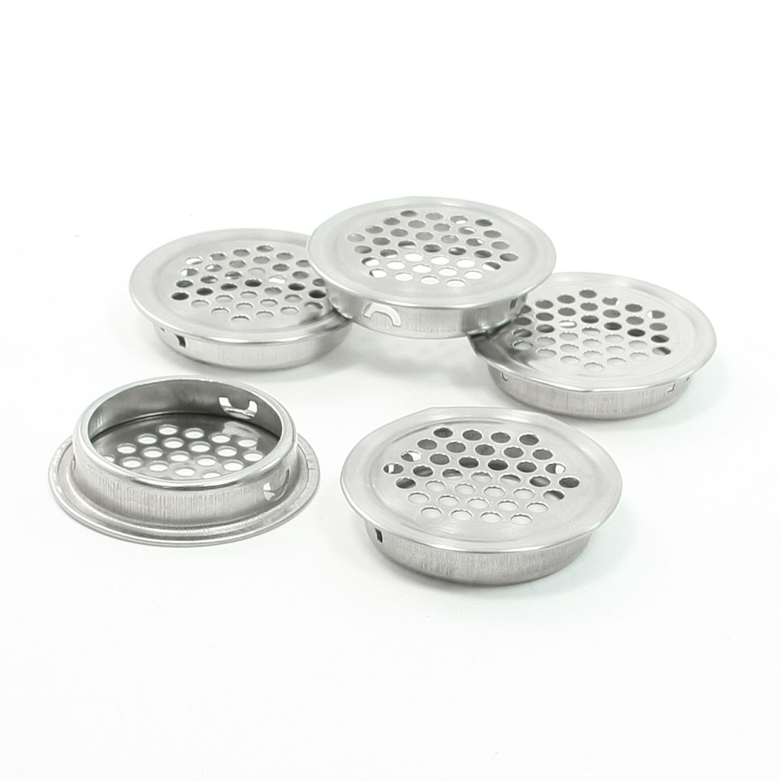 Mesh Holes 35mm Botton Dia Metallic Round Design Air Vent for Auditorium 5 Pcs