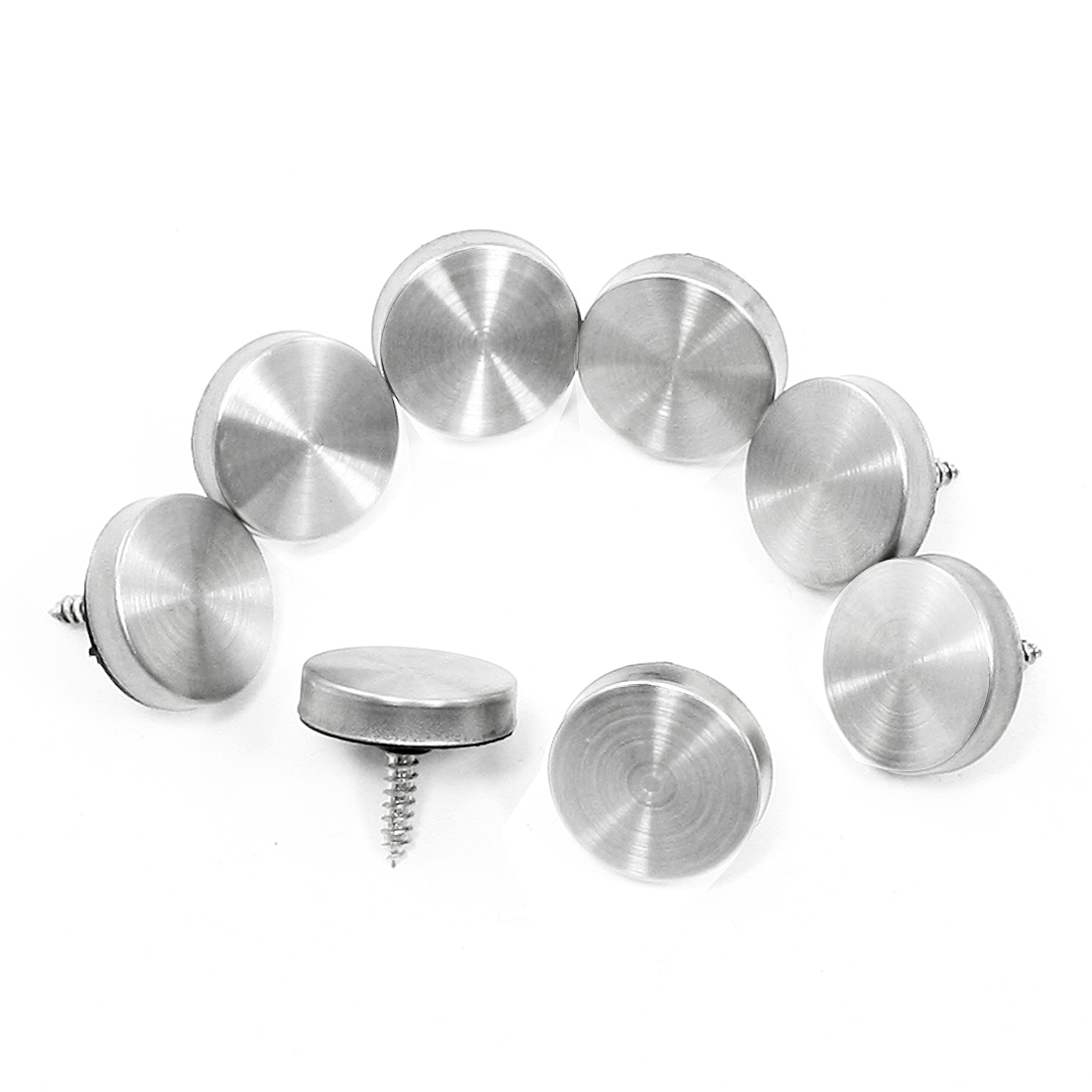 8 Pieces 22mm Stainless Steel Caps Decorative Mirror Nails