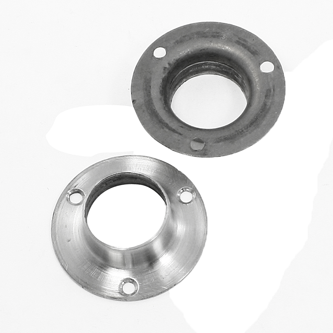 2 Pcs 50mm x 15mm Stainless Steel Weld Neck Flange for Machines Piping