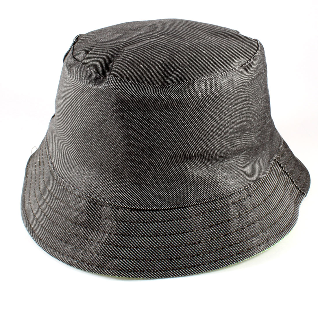 Old Man Outdoor Fishing Stitch Brim Bucket Cap Hat Gray