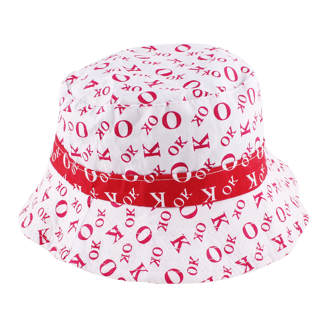 Letters Pattern Summer Cotton Blends Bob Hat Red White for 0-6 Months Baby Girls