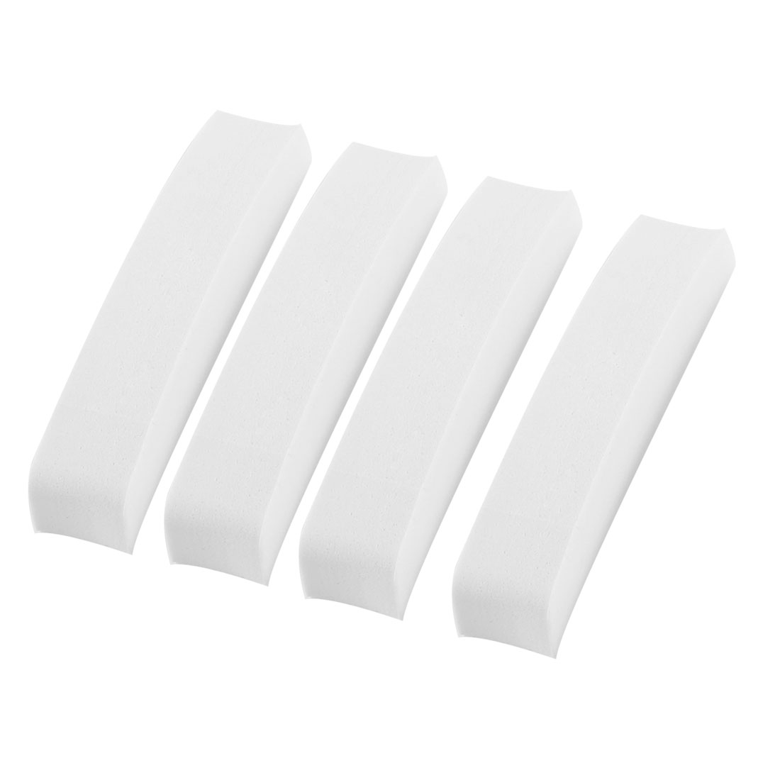 Cars White Self Adhesive Rectangle Foam Door Guard Protector Stickers 4 Pcs