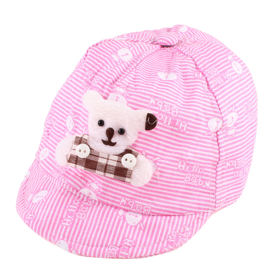 Cartoon Rabbit Printed Low Crown Ball Cap Pink for 6-12 Months Child