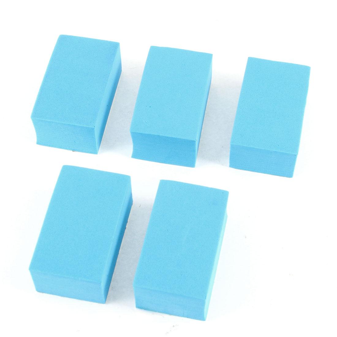 5 Pcs Car Ornament Self Adhesive Foam Door Guard Protector Stickers Maya Blue