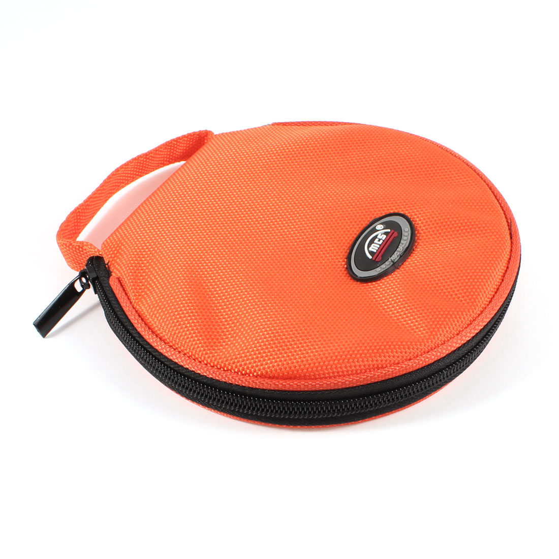 Portable 20 Pcs Capacity CD DVD Wallet Case Storage Holder Orange Red for Car