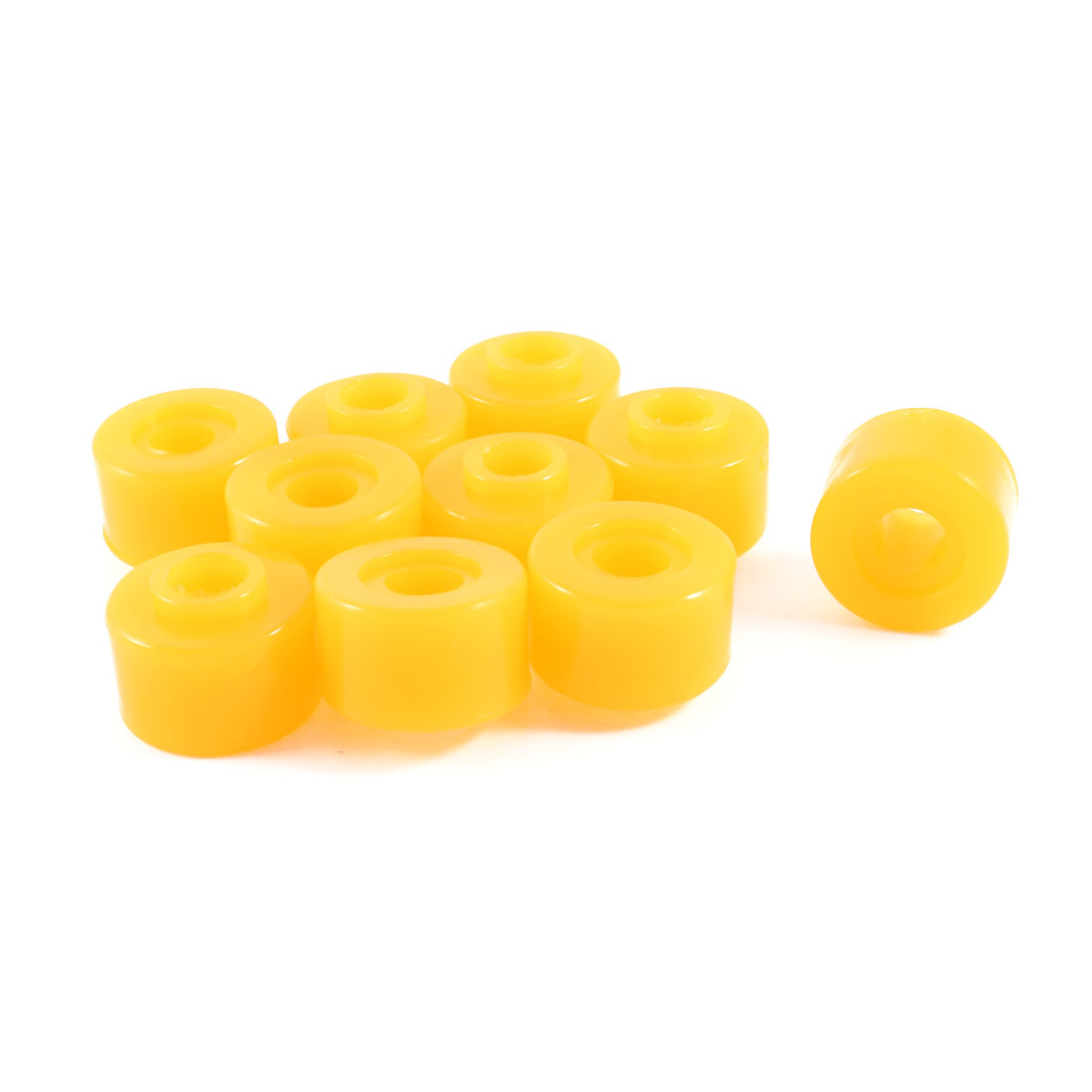 "Vehicles Autos 0.8"" Thick Yellow Rubber Shock Absorber Bushings Part 10 Pcs"