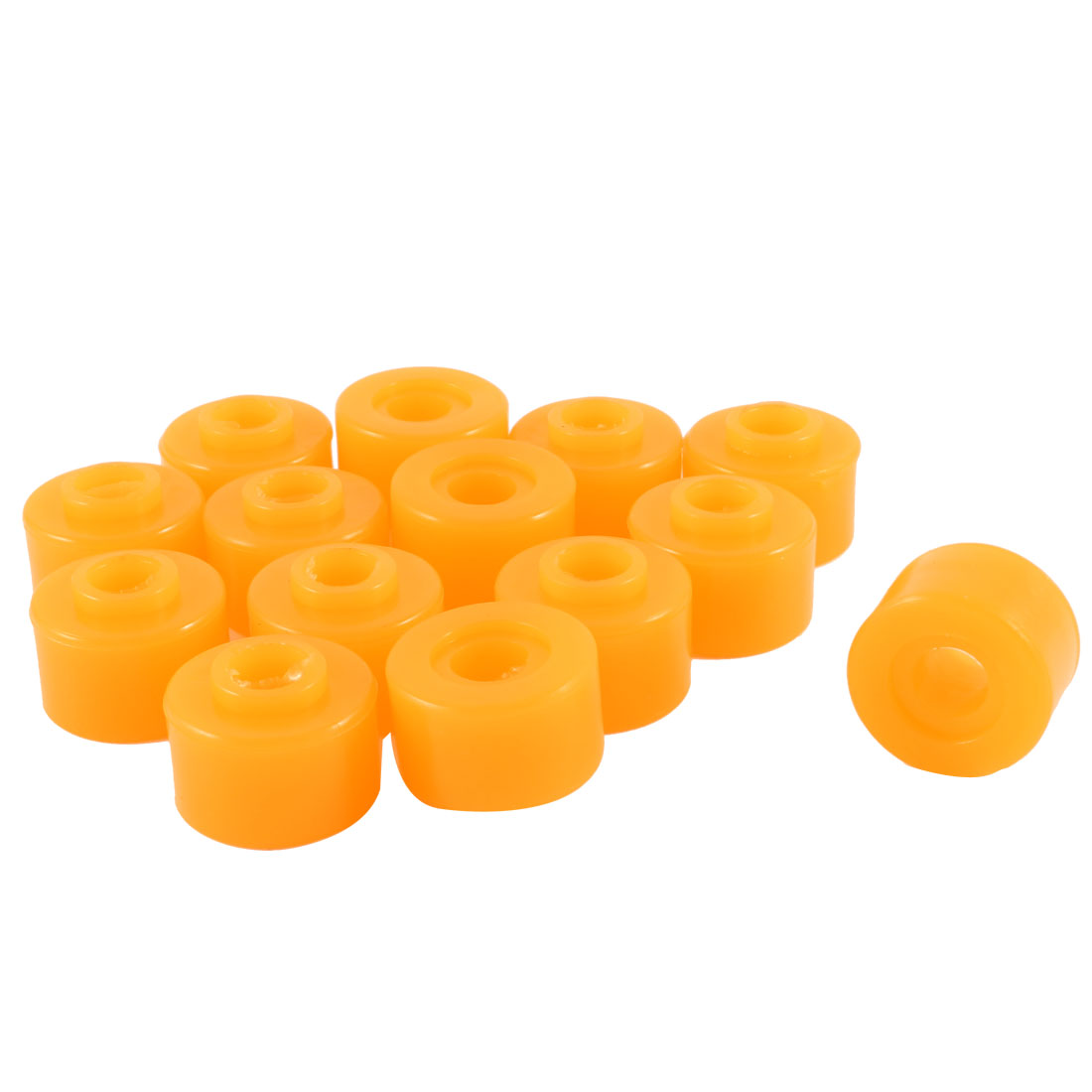 14 Pcs Rubber Shock Absorber Bushings Part 27mm x 20mm x 10mm Orange for Cars