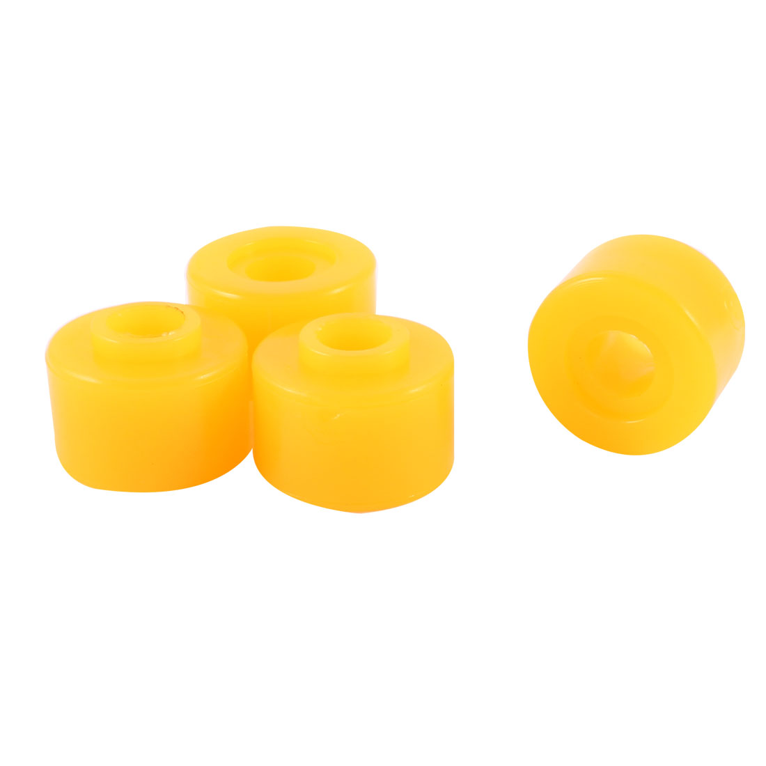 "4 Pcs 0.39"" Inside Dia Orange Rubber Shock Absorber Bushings Damper Assembly"