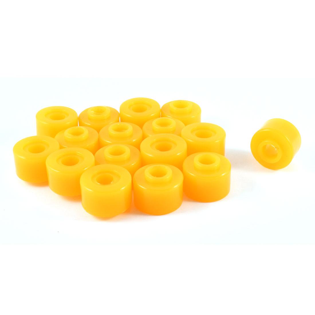 16 Pcs Cars 10mm Inside Dia Shock Absorber Bushings Damper Replacement Orange