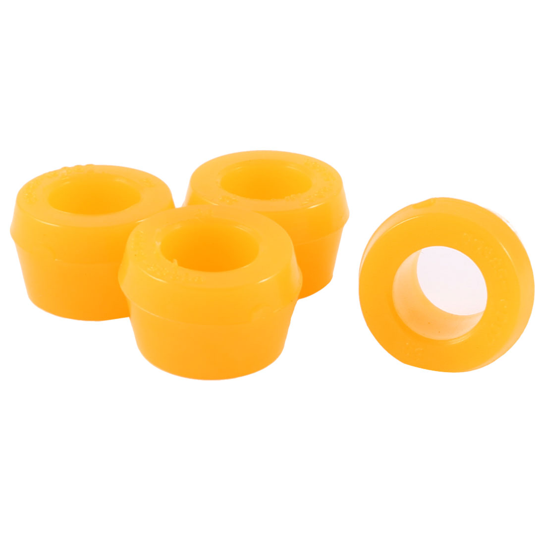 4 Pcs Rubber Shock Absorber Bushings Orange 27mm x 16mm x 18mm for Cars Trucks