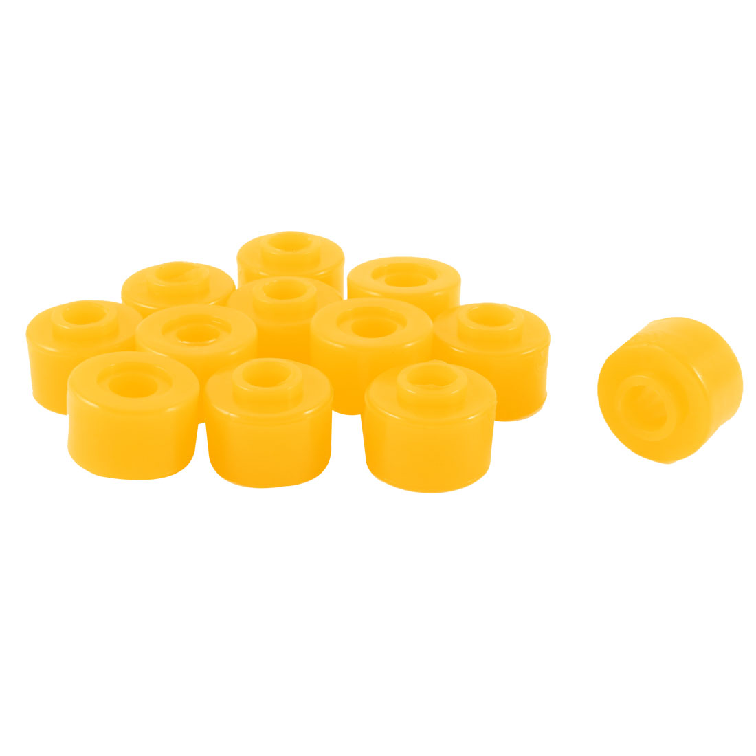 "12 Pcs 1.1"" Outside Dia Orange Rubber Shock Absorber Bushings Damper Replacement"