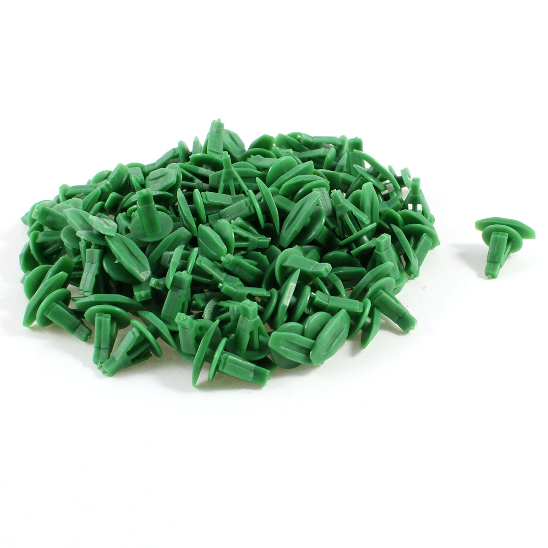 100 Pcs 9mm Hole Plastic Rivet Door Fastener Fastener Green for Cars Autos