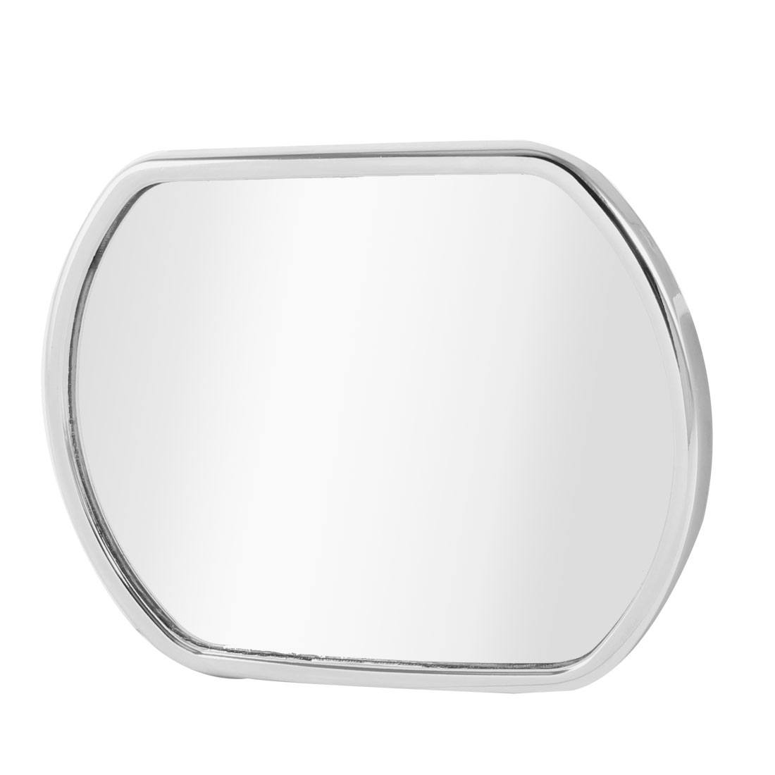 Rectangle Adhesive Car Wide Angle Convex Rear View Blind Spot Mirror Silver Tone