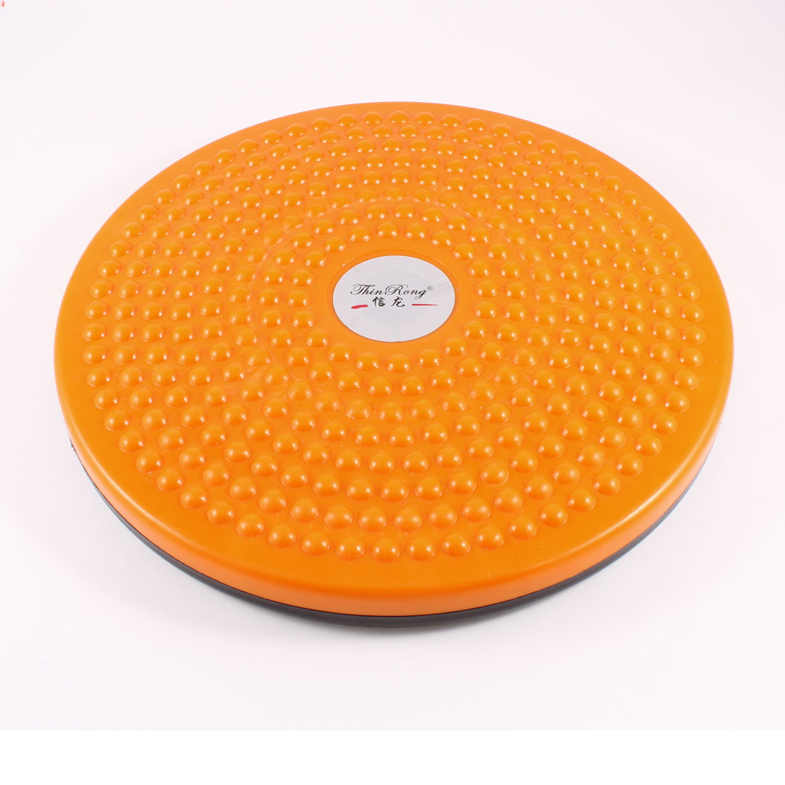 "11"" Round Plastic Foot Massage Body Shaper Waist Twist Board Orange Black"