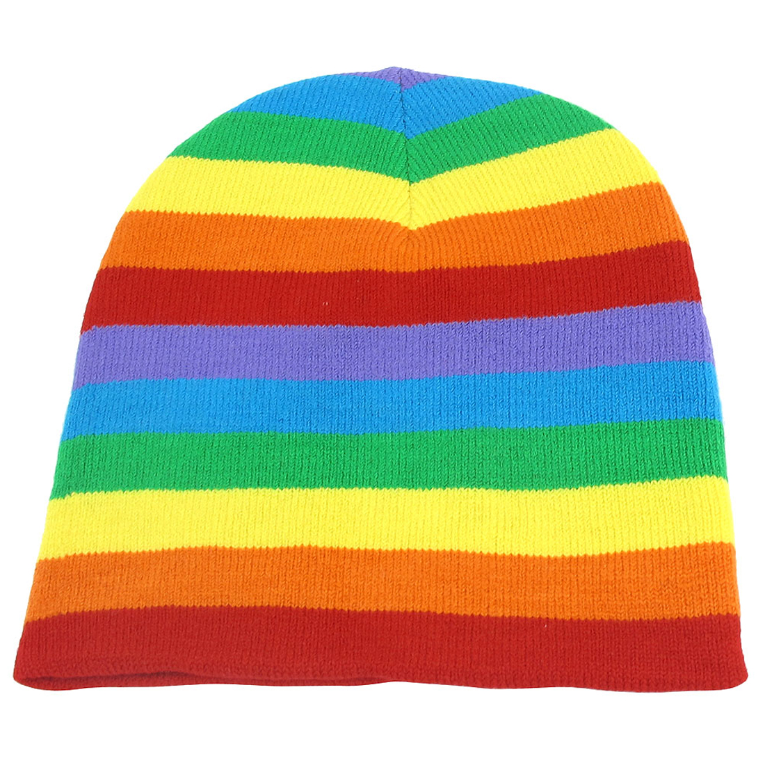 Unisex Rain Color Stretchy Hand Knit Warm Beanie Snowboarding Winter Hat Cap