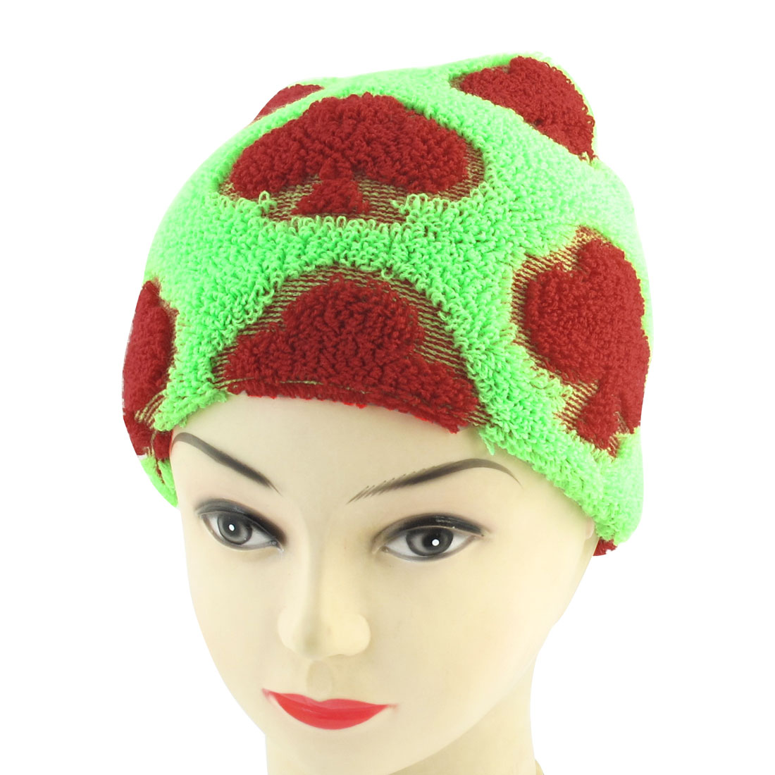 Unisex Fashion Cotton Blends Knitted Skiing Braided Ribbed Beanie Hat Green Red