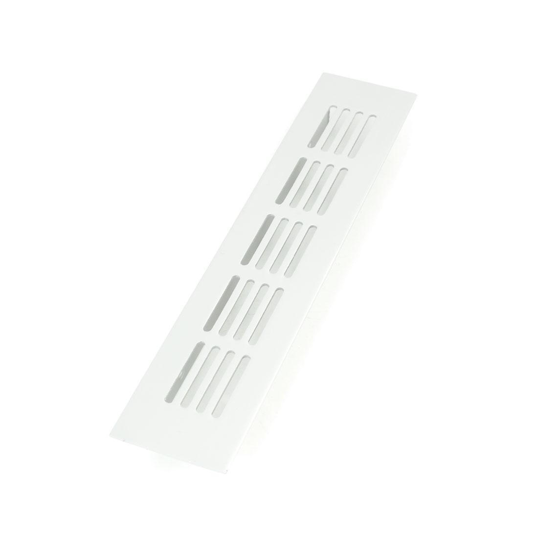21.3cm x 4.5cm x 1.3cm Office Home Alloy Rectangle Air Hole Ventilation Louver
