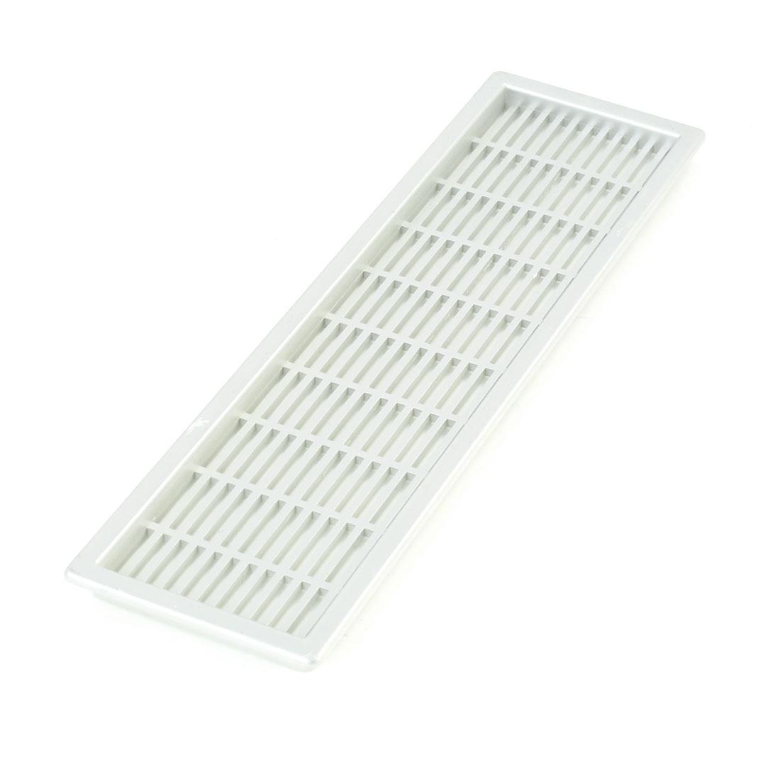 22.5cm x 6.5cm Rectangle Shape Plastic Mesh Hole Air Vent Louver