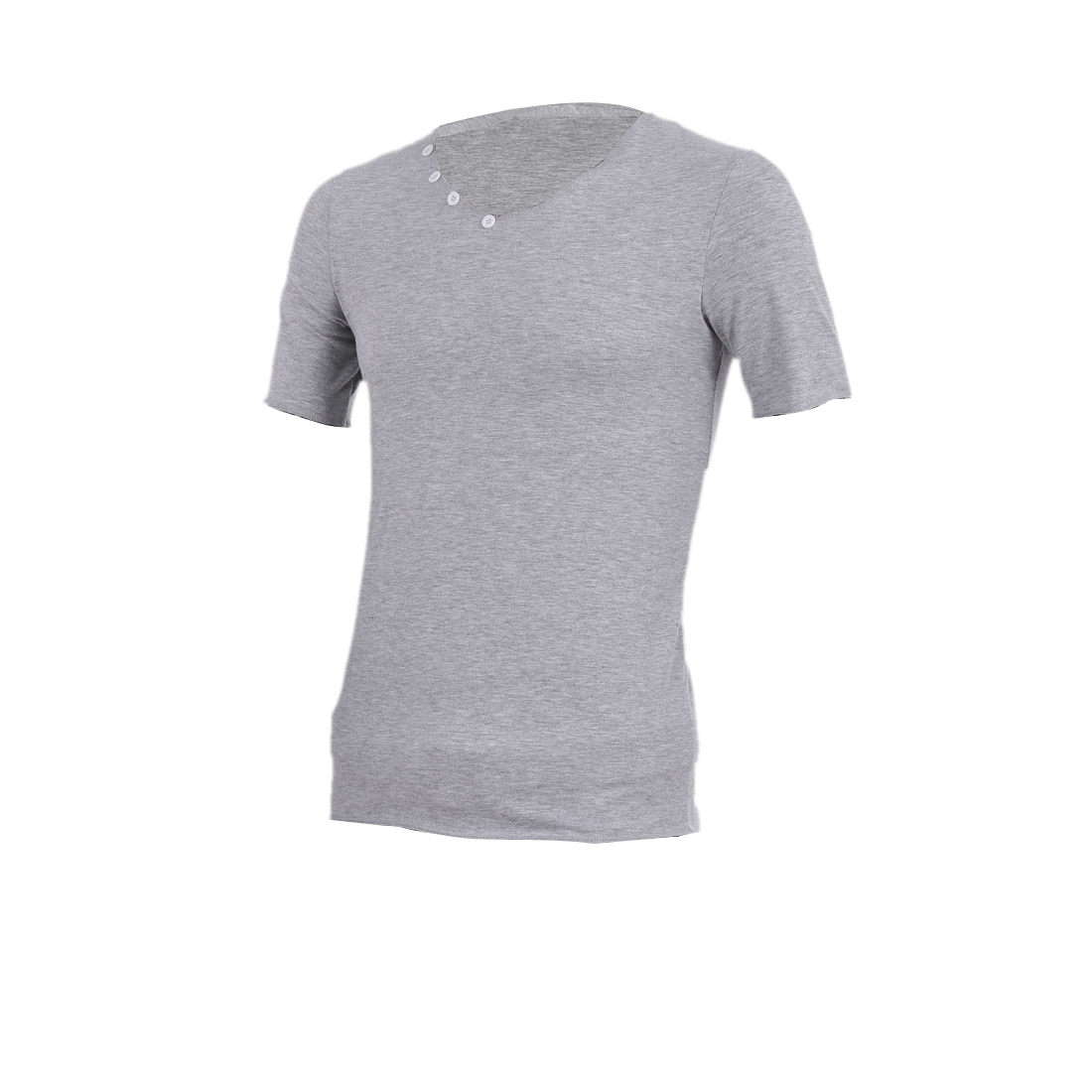Light Grey M Pullover Design Skinny Fit Style Essential T-Shirt for Men