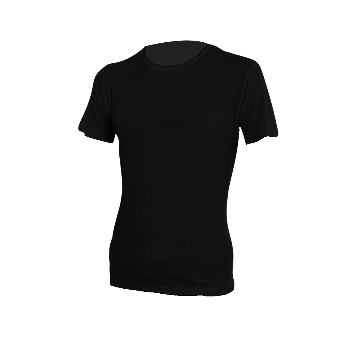 Men Short Sleeve Round Neck Pullover Design Casual Top Tee Shirt Black M