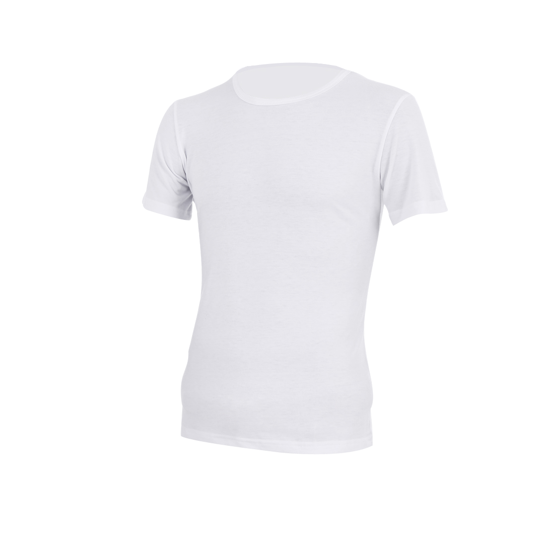White M Short Sleeve Solid Color Style Stretchy Men Summer Shirt