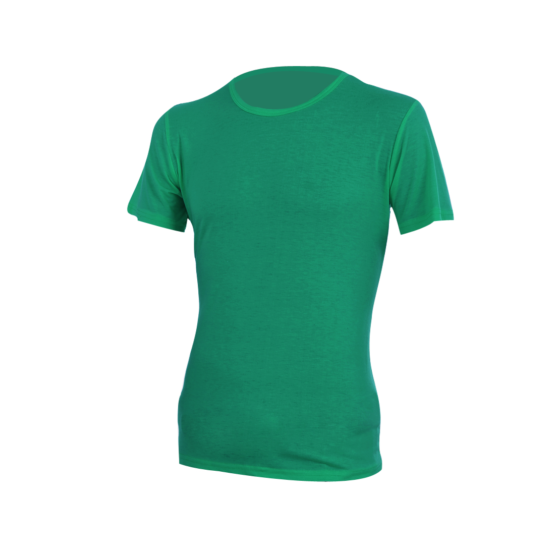 Men Round Neck Stretchy Style Short Sleeve Design Summer Tee Shirt M Green