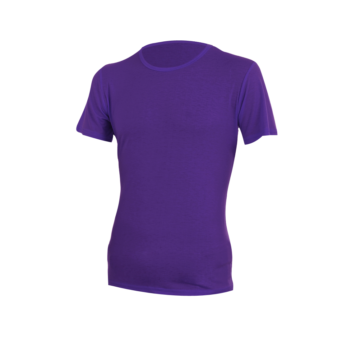 Menv Short Sleeve Round Neck Pullover Design Casual Top Tee Shirt M Purple