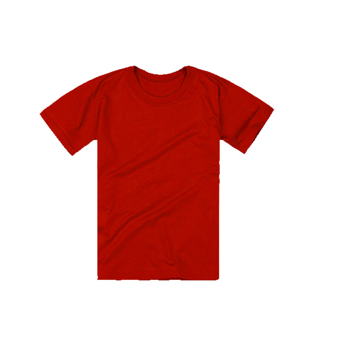 Men Round Neck Stretchy Style Short Sleeve Design Summer Tee Shirt M Red
