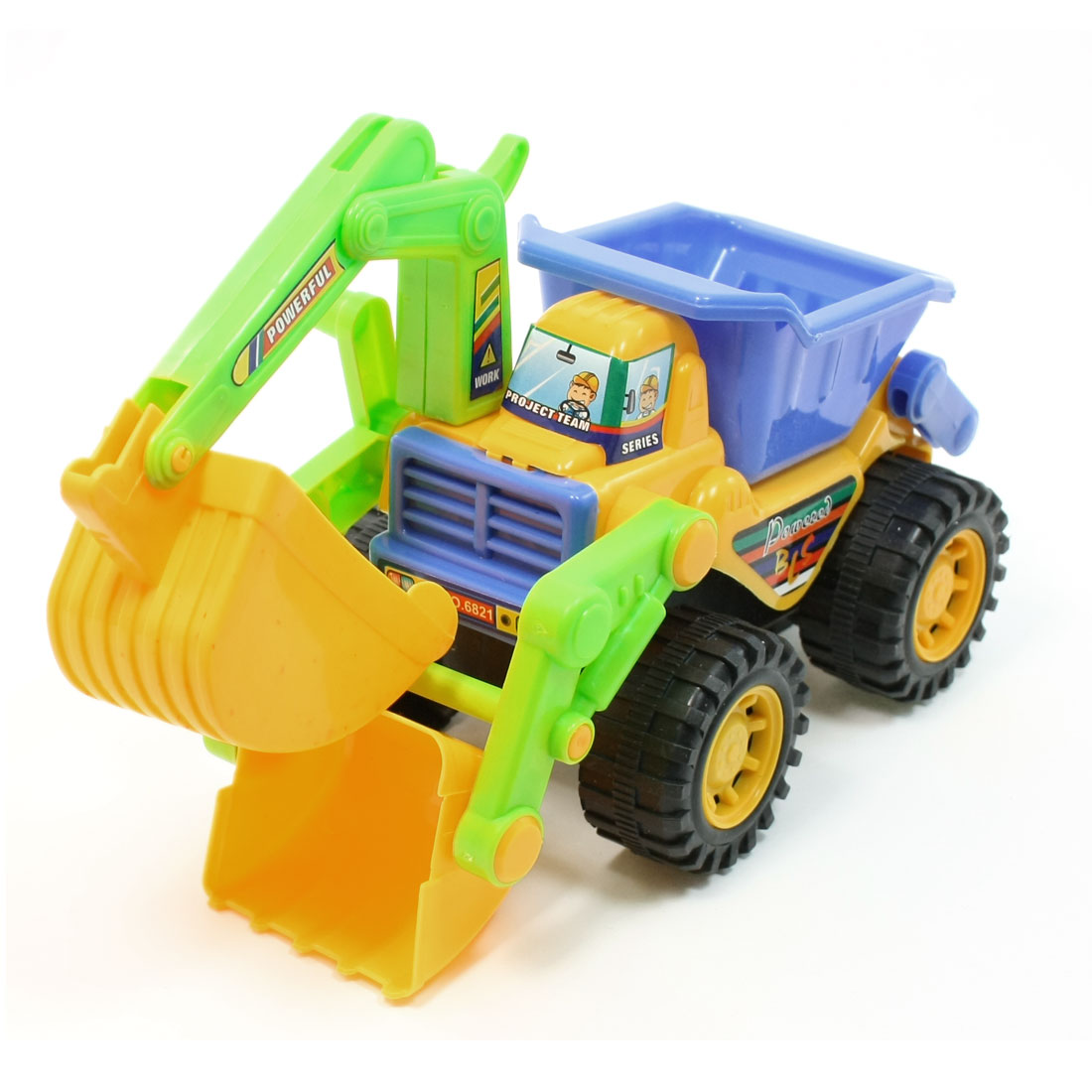 Kids Colorful Plastic Frame Digger Bulldozer Machinery Car Vehicle Toy