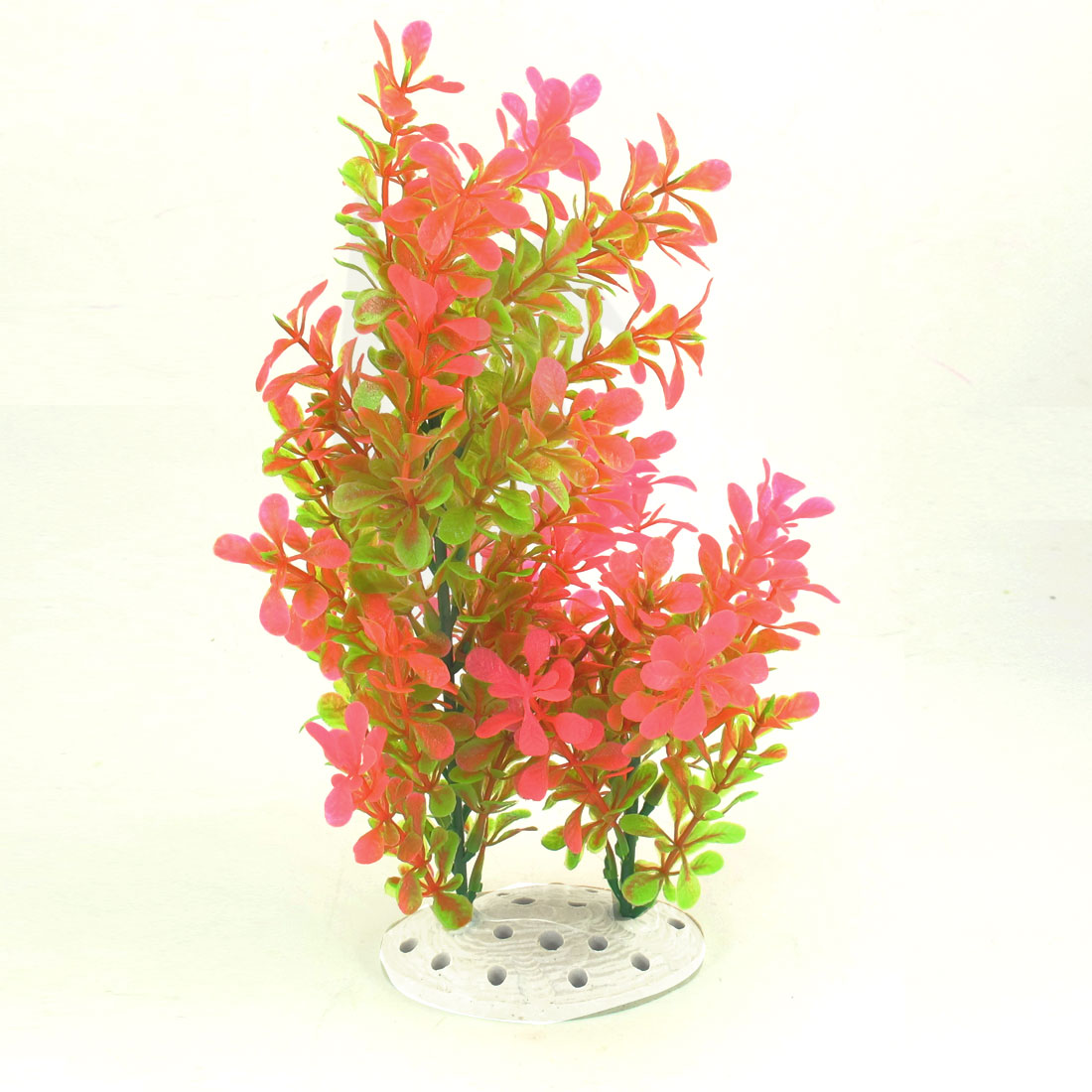 17cm Width Aquarium Aquascaping Hot Pink Green Artificial Aquatic Grass Ornament