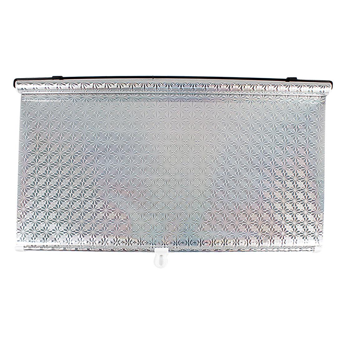 125cm x 68cm Silver Tone Vinly Reflective Sunshade Sun Shield for Car