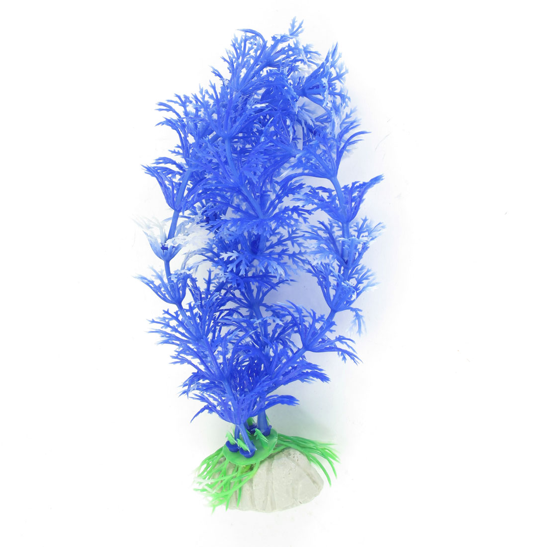 "5.5"" High Light Blue Simulation Aquatic Aquarium Plant Ornament"