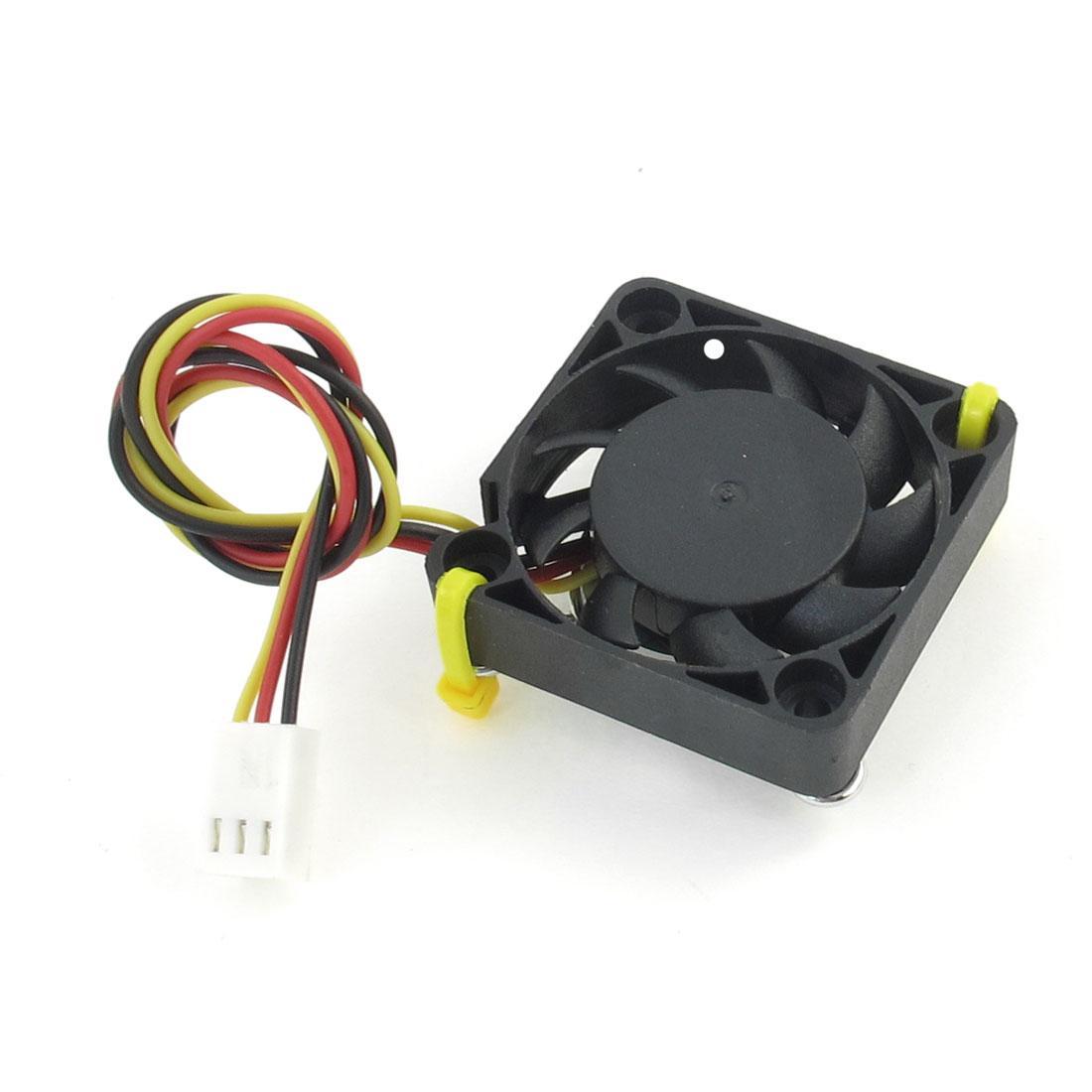DC 12V 0.1A 3-Terminal PC Case CPU Cooler Cooling Fan 40mm x 40mm x 10mm