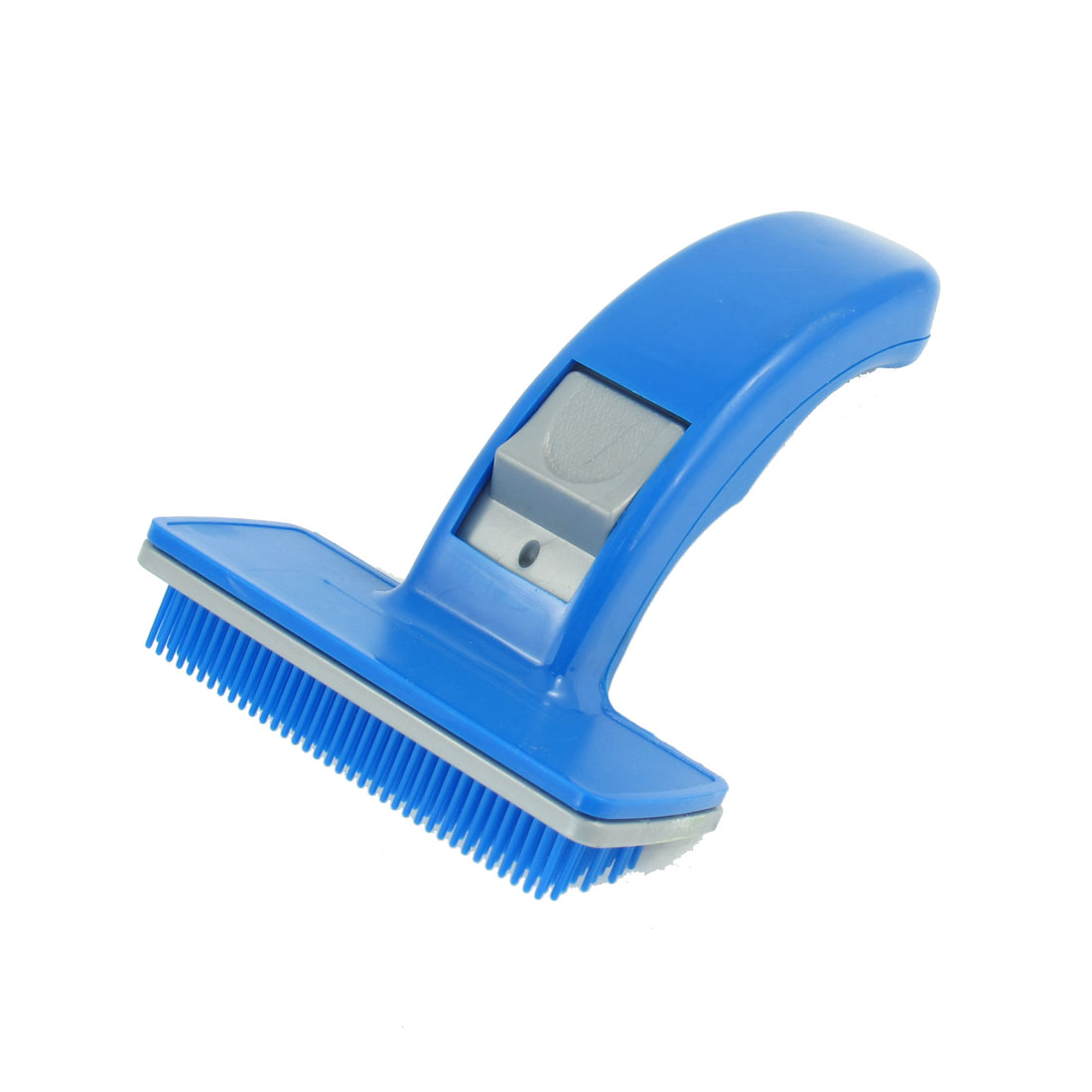Blue Plastic Pet Dog Puppies Hair Shedding Grooming Brush Comb