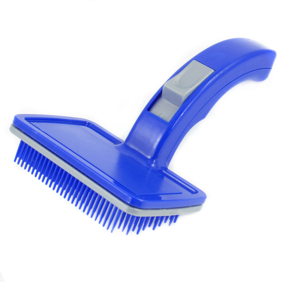 Blue Plastic Pet Dogs Puppies Hair Shedding Grooming Brush Comb