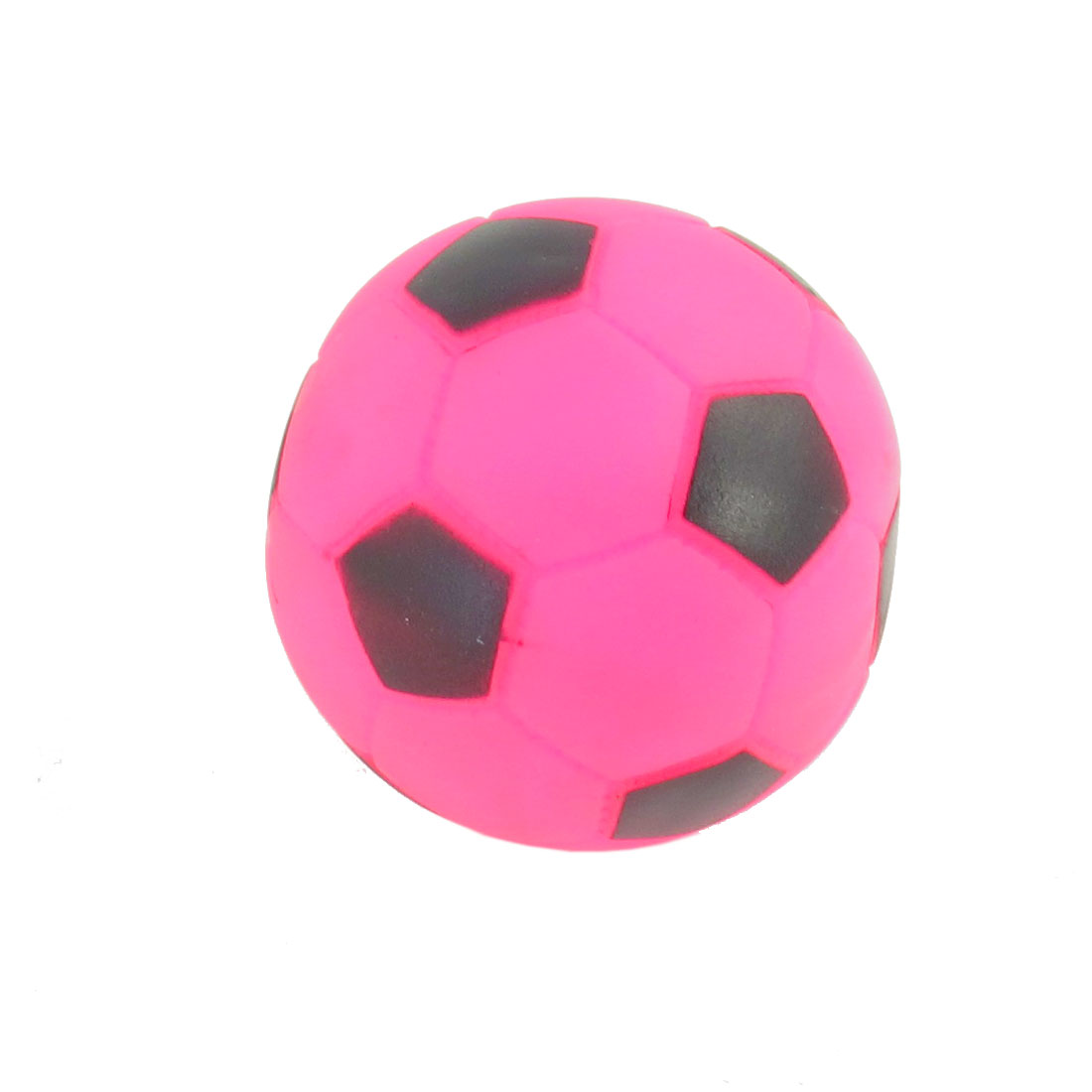 Fuchsia Vinyl Rubber Footable Design Squeaky Toy for Dogs