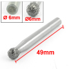 6mm x 6mm Cutting Bit Toothed Ball Tip Hard Alloy Rotary File