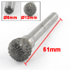 "Hard Alloy 12mm 15/32"" Diameter Round Ball Head Rotary File Tool"